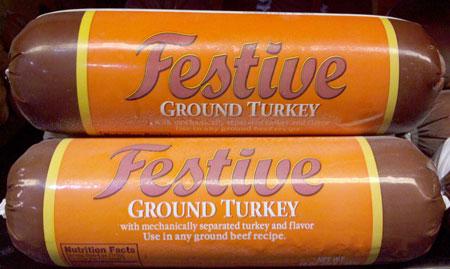 Festive Ground Turkey Meat