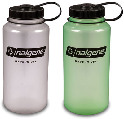 Nalgene Wide-Mouth Glow in the Dark Water Bottles