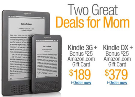 Amazon Kindle Deal Mothers Day 2011