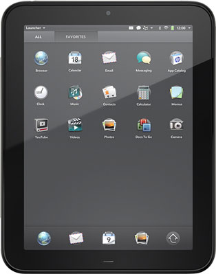 HP webOS TouchPad Tablet
