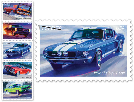 USPS Muscle Car Forever Stamps